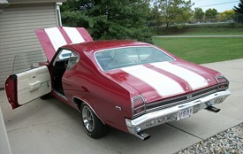1971 Red White Chevelle Big Block Bucket Seats Images