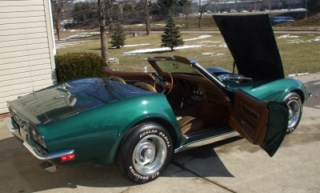 1971 Brands Hatch Green Convertible Corvette Images