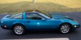 1994 Aqua Corvette Coupe Images